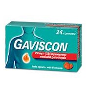 RECKITT BENCKISER H.(IT.) SpA Gaviscon 250 Mg + 133,5 Mg Compressa Masticabile Gusto Fragola 24 Compresse In Blister