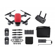 Dron DJI Spark Red - FLY MORE COMBO