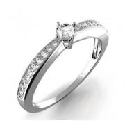 Zásnubní Prsten s diamantem Karin, bílé zlato 386-0440 Gems elegant