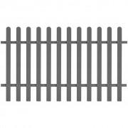 vidaXL Gard din șipci din WPC, 200 x 120 cm, gri