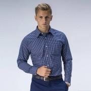Tailor Store Marinblårutig oxfordskjorta