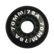 Nijdam Wielen Voor Inline Skates Zwart 70x25 mm Per 4 Stuks