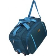 Nice Line (Expandable) Lightweight Waterproof Luggage Travel Duffel Bag (203 PK) Travel Duffel Bag(Blue)