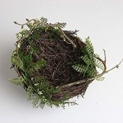 ELECTROPRIME Bird House Home Garden Yard Nest Station Ready Made Nesting Tree Decor 11cm