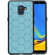 Blauw Hexagon Hard Case voor Samsung Galaxy A8 Plus 2018
