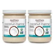 Nutiva Pack of 2 x Coconut Manna 15 oz