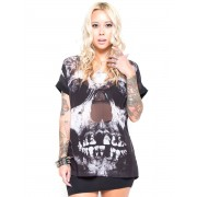 košile dámská IRON FIST - Loose Tooth - Black - IF003660