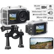 Somikon UHD-Action-Cam mit 2 Displays, WLAN und Sony-Bildsensor, IPX8