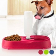 Mat Och Vattenskål Med Flaska För Husdjur