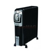 Calorifer electric Zass ZR 13 BE, 3000W, 13 elementi (Negru)