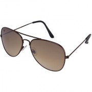 Walrus John Brown Color Unisex Aviator Sunglass - WS-JOHN-090909