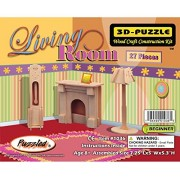 Puzzled Living Room 3 D Natural Wood Puzzles (27 Piece)