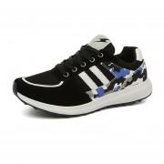 Malla Transpirable Zapatos De Los Deportes Calzado Deportivo Forrest Gump Zapatos Para Correr- Negro