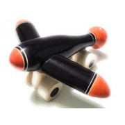 Crafts India Hand crafted Wooden Bomber Plane Pull Along Toy - Big (Multicolored)