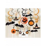 Vegaoo Set van 30 Halloween spiraal versieringen One Size