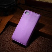 Oldalra nyíló lila tok Apple iPhone 4 / iPhone 4s telefonhoz