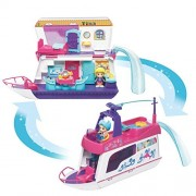 VTech Early Education Toy 2-in-1 Flipsies Sandy's House and Ocean Cruiser Doll House Toy for Kids