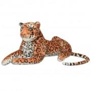 vidaXL Leopardo de peluche, castanho, XXL