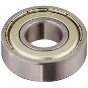 Soccik Bearings Grooved Ball Bearing Miniature Deep Groove Ball Bearing Top Quality 15X31X15Mm Bearing Steel Silver Pack of 5