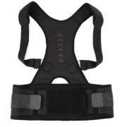 DJ FINDER ENTERPRISE Magnetic Therapy Posture Corrector Shoulder Back Support Belt for Men and Women Back Support(Black)