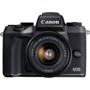 Canon EOS M5 Aparat Foto Mirrorless 24MP APSC Full HD Kit cu Obiectiv EF-M 15-45 F/3.5-6.3 IS STM Negru