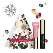 Clarins festive treats eyes and lips gift set 3.5 ml supra volume mascara + 5 ml light natural lip perfector - 01 rose shimmer