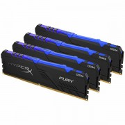 Kingston DRAM 64GB 3200MHz DDR4 CL16 DIMM (Kit of 4) HyperX FURY RGB EAN: 740617296242 HX432C16FB3AK4/64