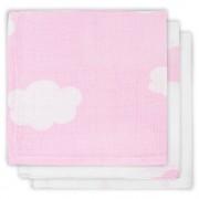 Jollein Monddoekje Hydrofiel Clouds Pink (3stuks)