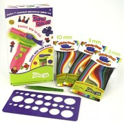 QUILL ON - Starter's Quilling Kit - A Unique Creative Gift - Contains Automated Multifunctional Quilling Tool, Tweezer, Quilling Board And 800 Quilling Strips - Craft Kit For Boys And Girls - A Fun Creative Toy
