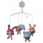 Carusel Muzical Pentru Patut Calm Baby - Zoo Friends