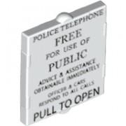 6132569 Geam 2 X 2 decorat - POLICE TELEPHONE