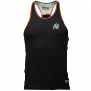 Gorilla Wear Sacramento Camo Mesh Tank Top - Zwart/Neon Oranje - XL