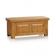 Oak Furnitureland Rustic Solid Oak Blanket Boxes - Blanket Box - Hercules Range - Oak Furnitureland