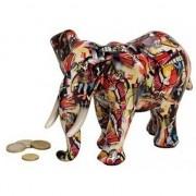 Geen Luxe spaarpot olifant rood van keramiek 22 cm
