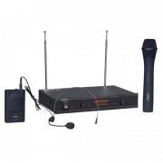 Set 2 microfoane wireless Ibiza VHF2H, microfon de mana si casca