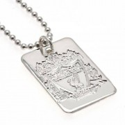 Liverpool FC Liverpool F.c. Silver Plated Dog Tag & Chain by GiftLocalUK