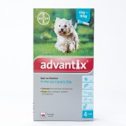 Advantix for Medium sized dogs 4-10kg (8.8-22lbs), 4 Pack
