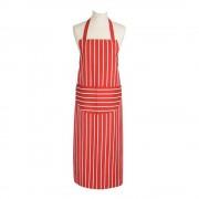 Dexam Butcher's Stripe Förkläde lång Röd