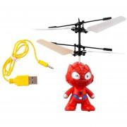 Pequeño Control remoto RC Spider Man aviones helicóptero inducción Kid Toys