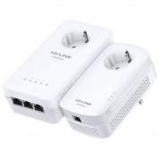 Kit Adaptor + Amplificator Powerline TP-Link TL-WPA8630PKIT AV1200, priza AC