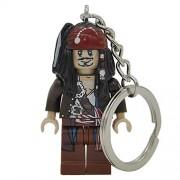 Generic Pirates of The Caribbean Jack Sparrow Figure Keychain Davy Jones Salazar Barbossa Key Chain Ring DIY Building Blocks Bricks Toys 515G