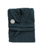 """Хавлиен халат за баня с качулка """"Лена-blue"""""""