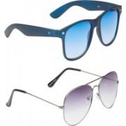 VS Club Aviator, Wayfarer Sunglasses(Blue, Grey)