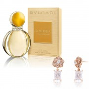 Cercei Borealy Argint 925 Gold Rose Parfum Bvlgari Goldea