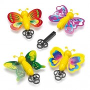 Baker Ross Pocket Money Toys - 6 butterfly toys on spring loaded key shooters. 6 cm wide