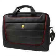Ferrari Scuderia Messenger Bag - луксозна дизайнерска чанта с презрамка за преносими компютри до 15 инча (черна)