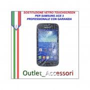 Riparazione Vetro Touch Samsung ACE 3 S7275 Cambio Touchscreen Schermo Rotto