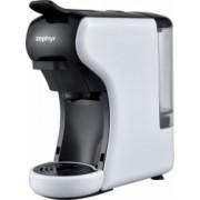 Espressor de cafea Zephyr pentru capsule Dolce Gusto Lavazza Blue si cafea macinata 1450W 19 bar alb/negru