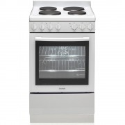 Euromaid EFF54W Electric Single Cavity Oven + Solid Cooktop