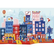 Silly Street - Silly City - Kids 48 Large Piece Jigsaw Puzzle
